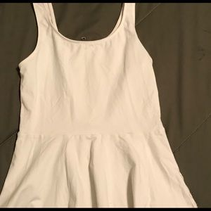 Express white tank with zipper back